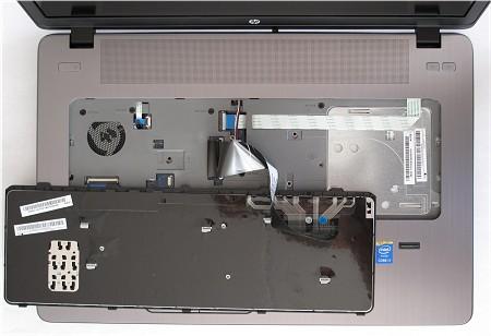 Notebook HP ProBook 470 G2 - demontáž klávesnice
